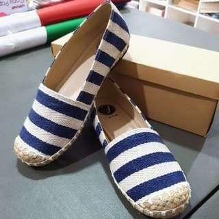 Blue stripes espadrilles. Made in marikina. Size 6