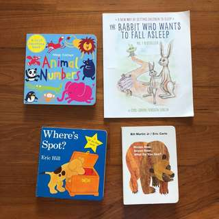 Set of 4 Baby Board Books