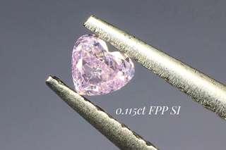天然粉鑽裸石靚心形淺粉紫色❤️全新產地直送Fancy Purple Pink💍可代鑲戒指吊墜耳環手鏈