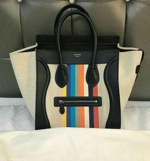 Celine Mini Luggage Canvas