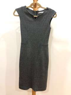 Mango Grey Pencil Dress XS
