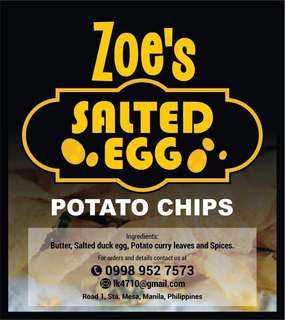 High Quality Salted Egg Potato Chips
