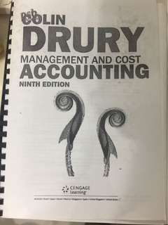 Colin Dury Management and Cost Accounting
