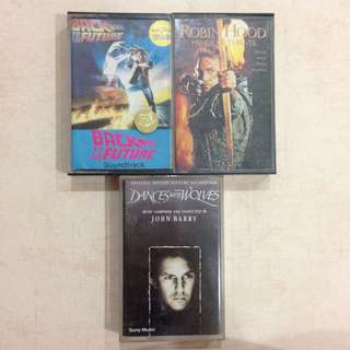 [CRAZY DEAL] Soundtrack Music Cassette Tapes Kaset (Back To The Future, John Barry, Dances With Wolves, Robin Hood Prince Of Thieves)