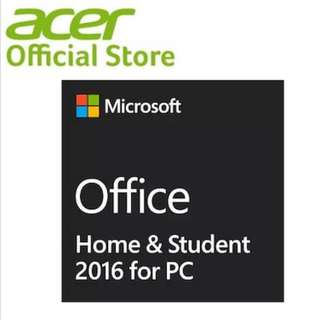 Microsoft Office Home and Student 2016 Win English