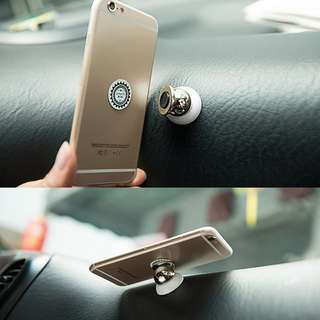 🔥Ready Stock🔥2pcs Universal 360° Rotating Car Sticky Magnetic Stand Holder For Cellphone GPS