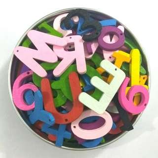Wooden Colour Alphabets & Numbers