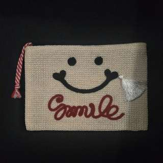 SMILE Embroidered Pouch