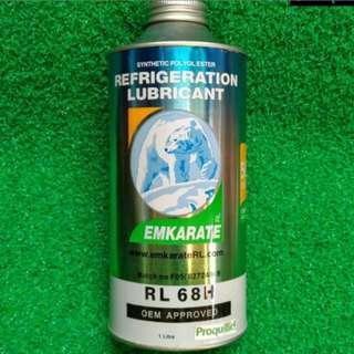 Oli Pendingin Kompresor Mobil AC Kulkas Merk Emkarate Isi 1 Liter Ramah Lapisan Ozon (RL32H/RL68H)