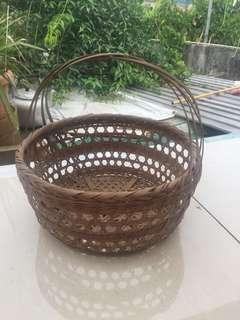 古老手織織籃