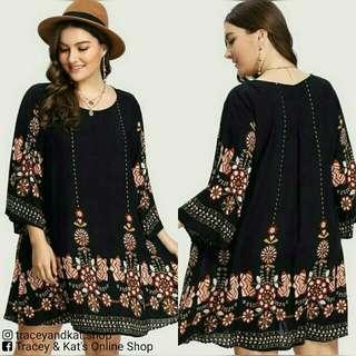 Boho Style Plus Size Dress