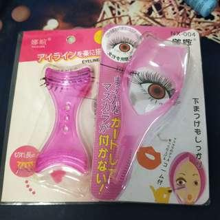Eyeline and eyelash tool