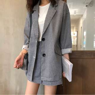 Gingham Outerwear Set