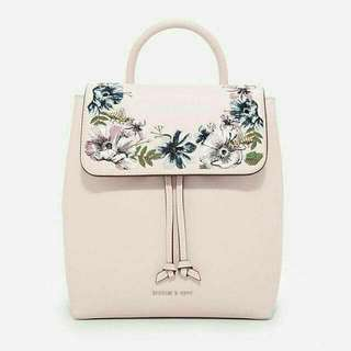 CHARLES & KEITH EMBROIDERY BAGPACK