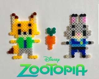 Hama perler beads design Disney zootopia