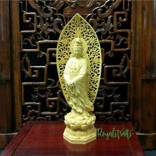 Wood Guanyin Figurine