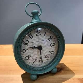 Aqua antique standing clock - Morgan & Finch