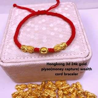 hongkong 3d 24k gold piyao(money capture)