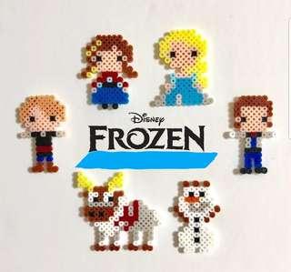 Hama beads design Disney frozen elsa Anna olaf sven