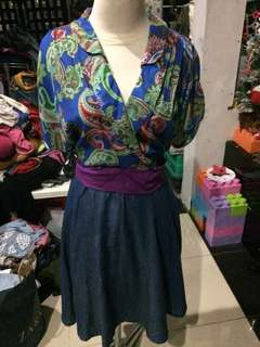 Dress batik denim
