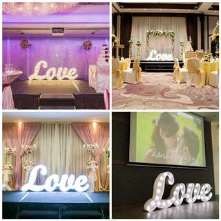 WEDDING PROPS DECOR - MARQUEE L.O.V.E