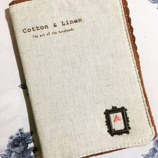 Cotton and Linen Dotted Notebook