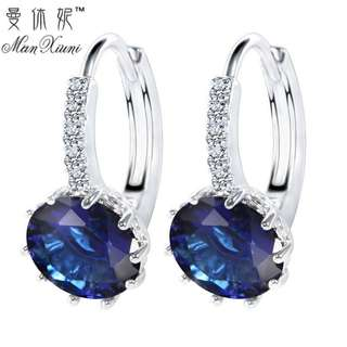 MANXIUNI Korean Vintage Zirconia Stone Earring Set