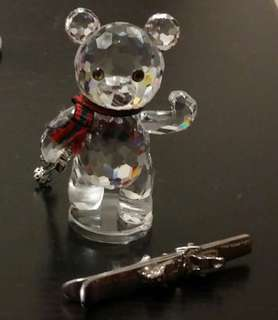 施華諾世奇水晶擺件(滑雪小熊)1999年產