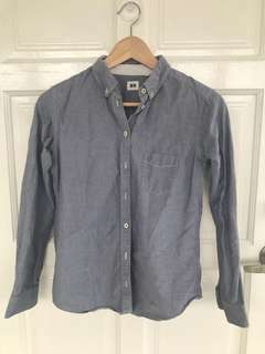 [WTS] Preloved Long Sleeve shirt Uniqlo Grey (Medium)