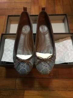 Gucci classic 牛仔平底鞋