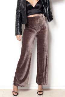 Wide Leg Velvet Pants