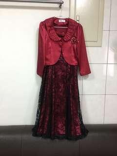 🚚 媽媽裝/婆婆裝-婚禮專用禮服(紅色洋裝)