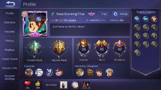 [MOBILE LEGEND] Account Mobile Legend For Android