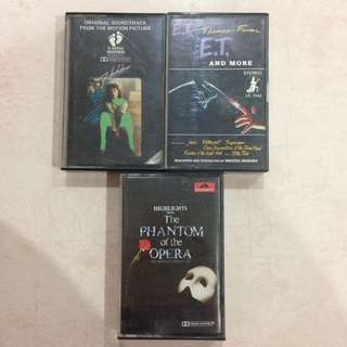 [CLEARANCE] Soundtrack Music Cassette Tapes Kaset (Irene Cara, Flashdance, E.T, Phantom Of Opera)