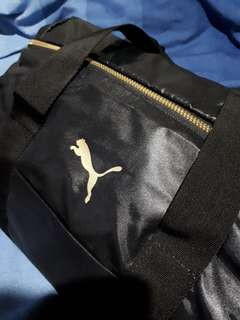 Repriced! Gold on black Puma Sports Bag