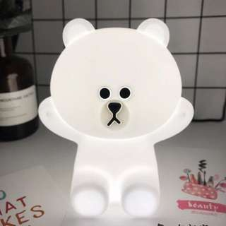 Brand New Line friends Hug Me Brown Rechargeable LED Night Touch Lamp wedding home kids room decor