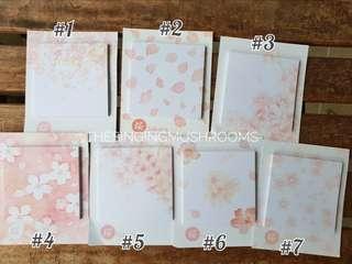 🚚 [N]Sakura post it sticky notes