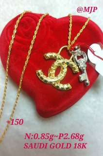 18k Saudi gold chanel necklace