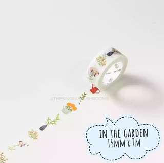 [T]In the garden washi tape
