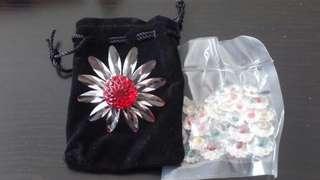 施華諾世奇水晶菊花系列連一包碎花花(珍藏品)