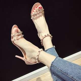 Studded high heels 7cm