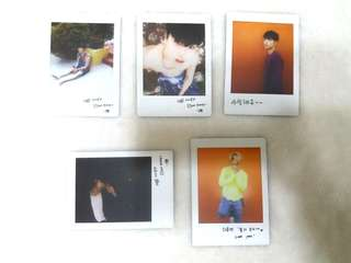 (ONE SET) OFFICIAL IKON PC PHOTOCARDS POLAROID PHOTO