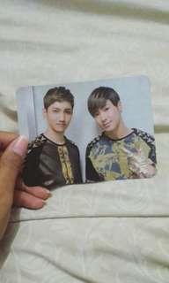 TVXQ Signed Photocard