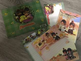 Monchhichi 信封信紙套裝 可愛 Monchichi