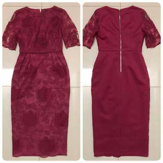 Doublewoot  Dress (Maroon)
