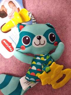 🚚 Tiny love tiny smarts jitter teether raccoon NEW