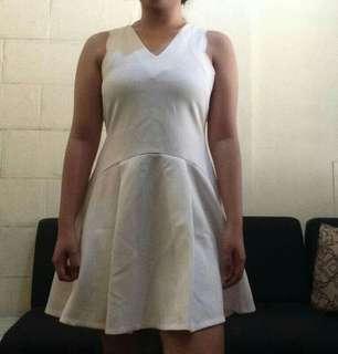 white neoprene dress