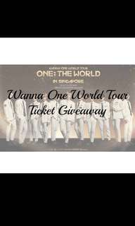 wanna one ticket giveaway by @kpoploverss