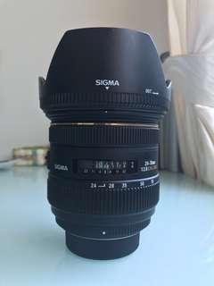 Sigma 24-70mm F2.8 IF EX DG HSM (Nikon mount)