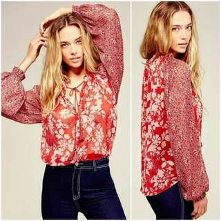 🐋Longsleeve  with garter cuff blouse